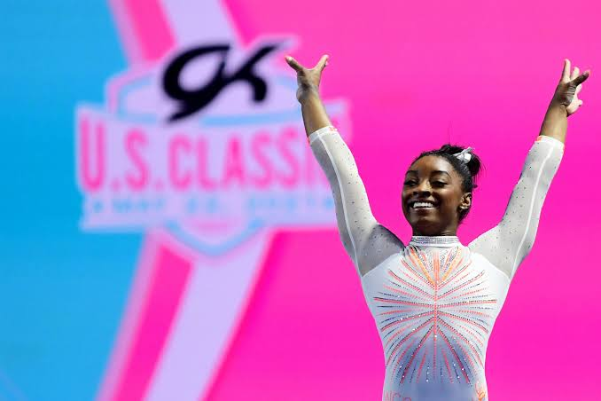 SIMONE BILES MAKES HISTORY AS FIRST WOMAN GYMNAST TO LAND YURCHENKO DOUBLE PIKE VAULT AT U.S. CLASSIC