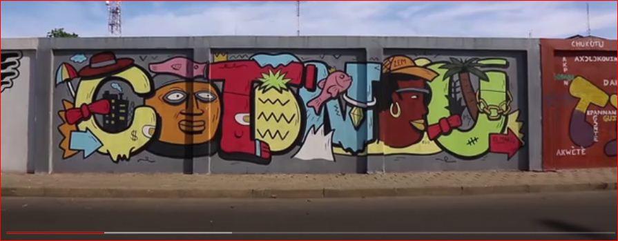 Africa's longest graffiti  Check out Africa's longest graffiti mural in Cotonou, Benin Republic