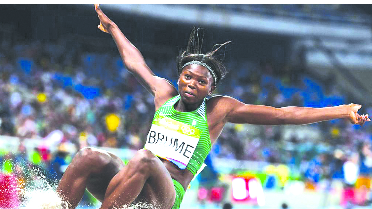 Nigeria's Ese Brume sets the new African Long Jump record