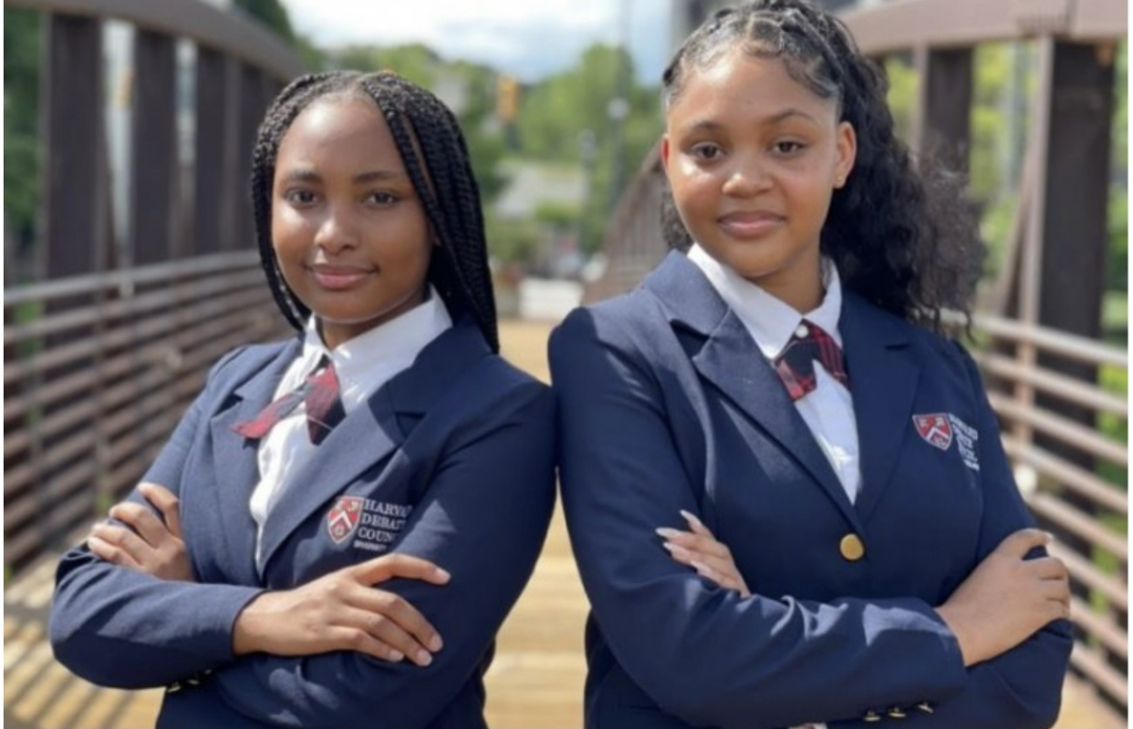 Jayla and Emani: First ever black girl duo wins International hazard debate competition