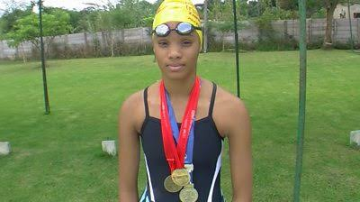 17 year old Donata Katai, is the first black swimmer to represent Zimbabwe in Olympics